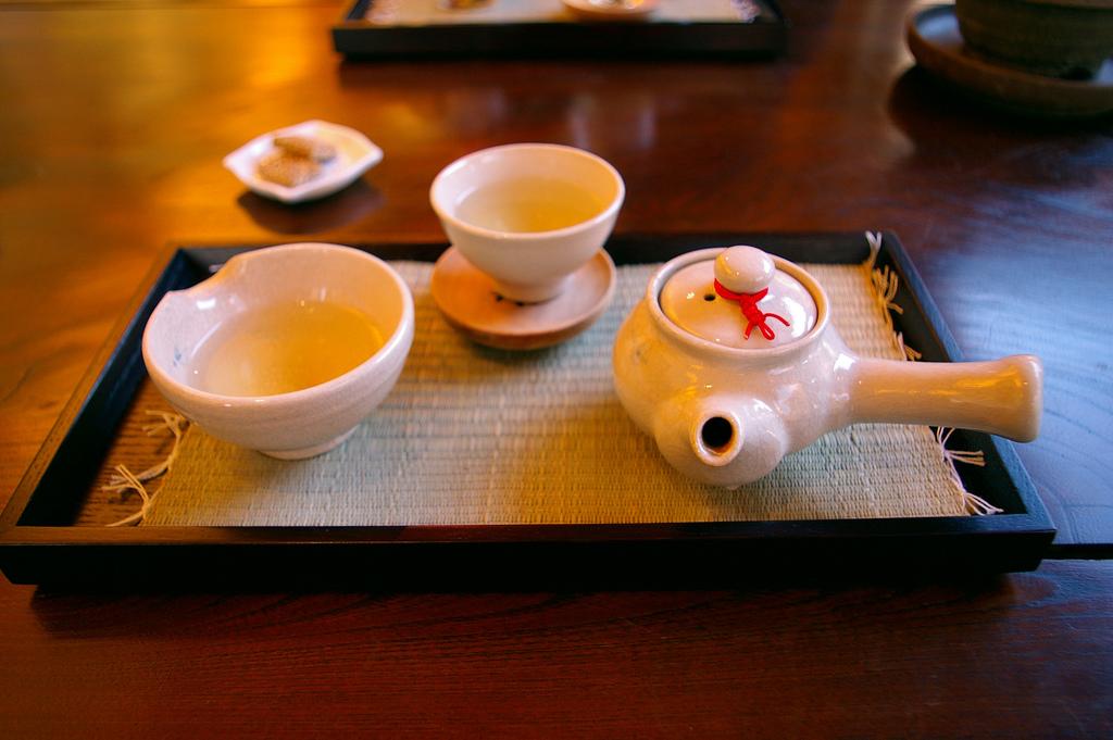 teiera e tazze in Corea