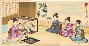 cerimonia del tè in Giappone: stampa