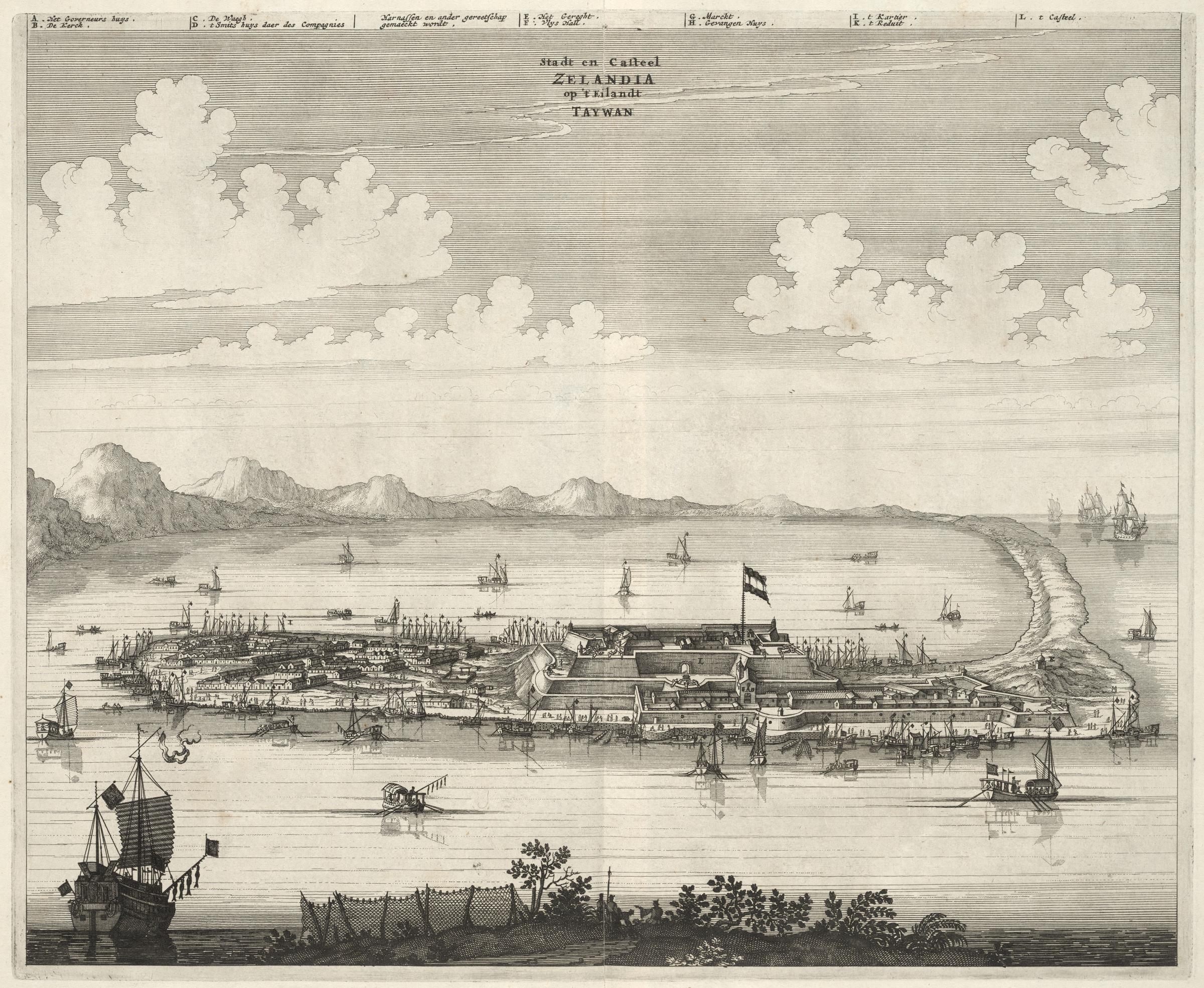 Taiwan, Fort Zeelandia in una stampa d'epoca