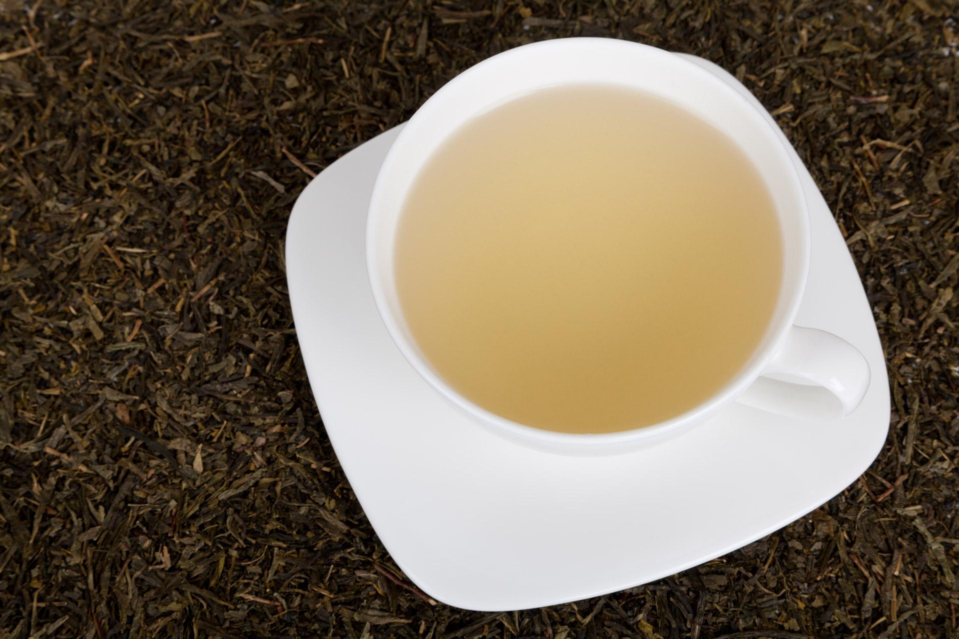 tazza di tè bianco